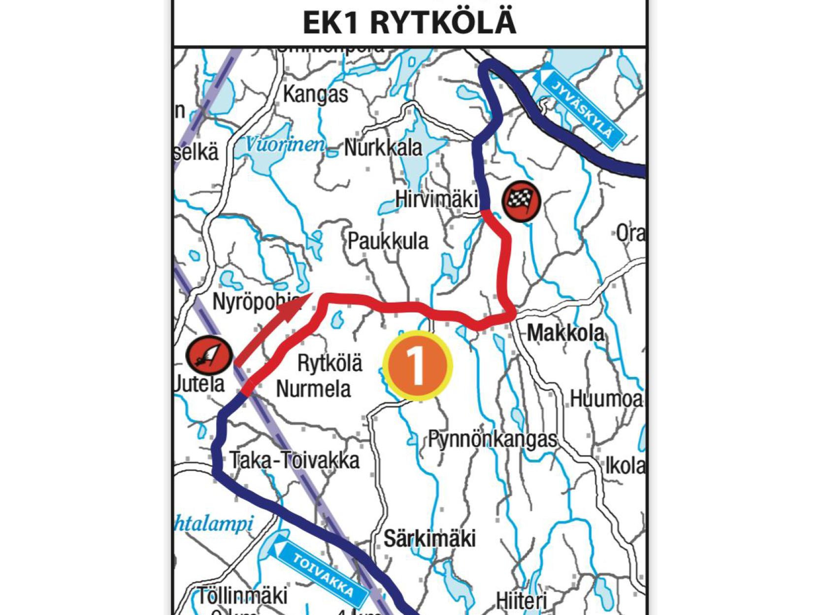 Kangasniemi-Rallin EK 1 on muuttunut